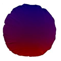 Purple Orange Blue Large 18  Premium Round Cushions by Jojostore