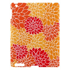 Vintage Floral Flower Red Orange Yellow Apple Ipad 3/4 Hardshell Case by Jojostore