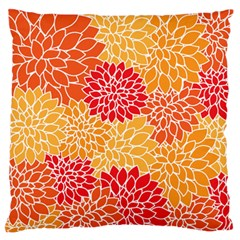 Vintage Floral Flower Red Orange Yellow Large Flano Cushion Case (one Side) by Jojostore