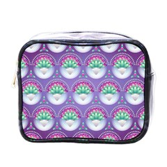 Background Floral Pattern Purple Mini Toiletries Bags