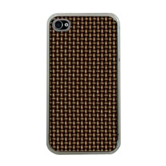 Fabric Pattern Texture Background Apple Iphone 4 Case (clear)