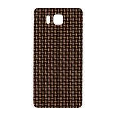 Fabric Pattern Texture Background Samsung Galaxy Alpha Hardshell Back Case by Amaryn4rt