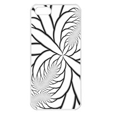 Fractal Symmetry Pattern Network Apple Iphone 5 Seamless Case (white)