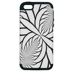 Fractal Symmetry Pattern Network Apple Iphone 5 Hardshell Case (pc+silicone)