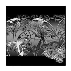 Kringel Circle Flowers Butterfly Tile Coasters by Amaryn4rt