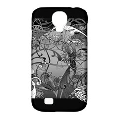 Kringel Circle Flowers Butterfly Samsung Galaxy S4 Classic Hardshell Case (pc+silicone) by Amaryn4rt