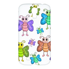 Colorful, Cartoon Style Butterflies Samsung Galaxy S4 I9500/i9505 Hardshell Case by Valentinaart