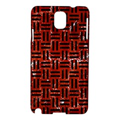 Woven1 Black Marble & Red Marble (r) Samsung Galaxy Note 3 N9005 Hardshell Case by trendistuff