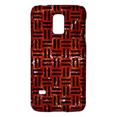 Woven1 Black Marble & Red Marble (r) Samsung Galaxy S5 Mini Hardshell Case  by trendistuff