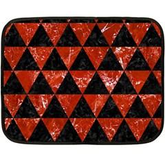 Triangle3 Black Marble & Red Marble Fleece Blanket (mini) by trendistuff