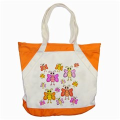 Cute Butterflies Pattern Accent Tote Bag by Valentinaart