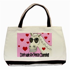 Don t Wait For Prince Charming Basic Tote Bag (two Sides) by Valentinaart