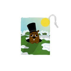 Groundhog Drawstring Pouches (xs)  by Valentinaart