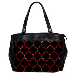 Tile1 Black Marble & Red Marble Oversize Office Handbag by trendistuff