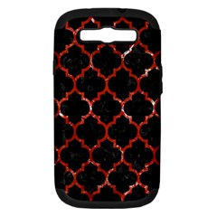 TIL1 BK-RD MARBLE Samsung Galaxy S III Hardshell Case (PC+Silicone) by trendistuff