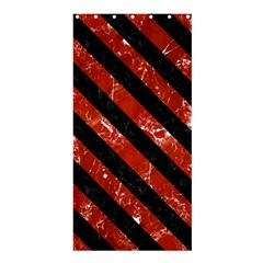 Stripes3 Black Marble & Red Marble (r) Shower Curtain 36  X 72  (stall) by trendistuff