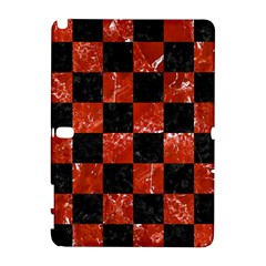 Square1 Black Marble & Red Marble Samsung Galaxy Note 10 1 (p600) Hardshell Case by trendistuff