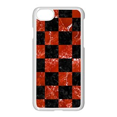 Square1 Black Marble & Red Marble Apple Iphone 7 Seamless Case (white) by trendistuff