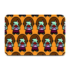 Zombie Woman Fill Orange Plate Mats by Jojostore