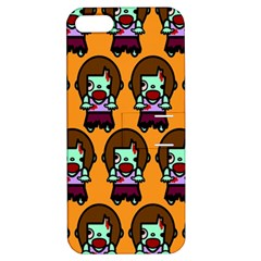 Zombie Woman Fill Orange Apple Iphone 5 Hardshell Case With Stand by Jojostore
