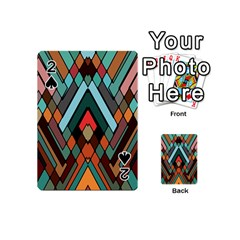 Abstract Mosaic Color Box Playing Cards 54 (mini)  by Jojostore