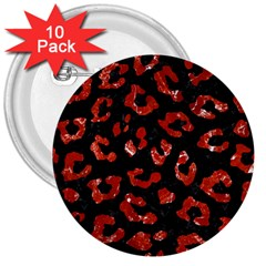Skin5 Black Marble & Red Marble (r) 3  Button (10 Pack) by trendistuff