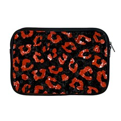 Skin5 Black Marble & Red Marble (r) Apple Macbook Pro 17  Zipper Case