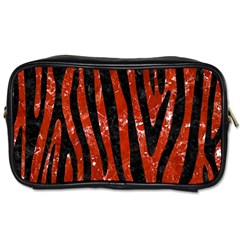 Skin4 Black Marble & Red Marble Toiletries Bag (two Sides) by trendistuff