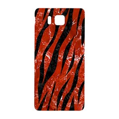 Skin3 Black Marble & Red Marble (r) Samsung Galaxy Alpha Hardshell Back Case by trendistuff