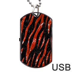 Skin3 Black Marble & Red Marble Dog Tag Usb Flash (two Sides) by trendistuff