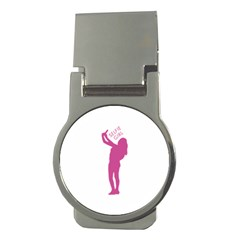 Selfie Girl Graphic Money Clips (round)  by dflcprints