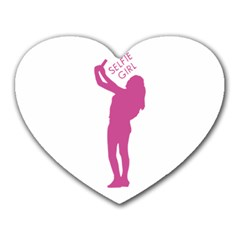 Selfie Girl Graphic Heart Mousepads by dflcprints