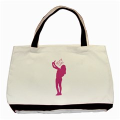 Selfie Girl Graphic Basic Tote Bag (two Sides) by dflcprints