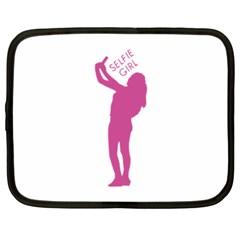 Selfie Girl Graphic Netbook Case (xxl)  by dflcprints