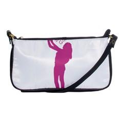 Selfie Girl Graphic Shoulder Clutch Bags by dflcprints