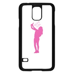Selfie Girl Graphic Samsung Galaxy S5 Case (black) by dflcprints