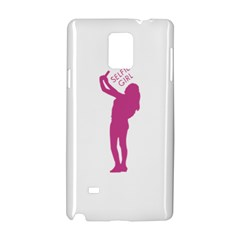Selfie Girl Graphic Samsung Galaxy Note 4 Hardshell Case by dflcprints
