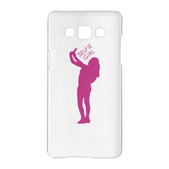 Selfie Girl Graphic Samsung Galaxy A5 Hardshell Case  by dflcprints