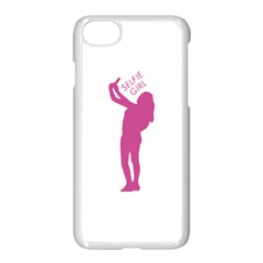 Selfie Girl Graphic Apple Iphone 7 Seamless Case (white) by dflcprints
