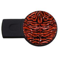 Skin2 Black Marble & Red Marble (r) Usb Flash Drive Round (2 Gb) by trendistuff
