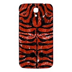Skin2 Black Marble & Red Marble (r) Samsung Galaxy Mega I9200 Hardshell Back Case by trendistuff