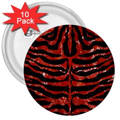 Skin2 Black Marble & Red Marble 3  Button (10 Pack) by trendistuff