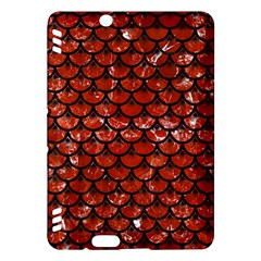 Scales3 Black Marble & Red Marble (r) Kindle Fire Hdx Hardshell Case by trendistuff