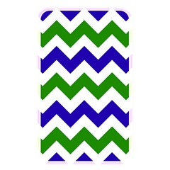 Blue And Green Chevron Pattern Memory Card Reader by Jojostore