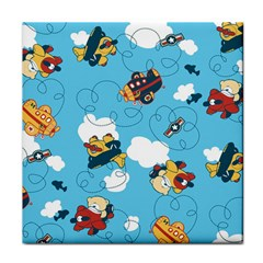 Bear Aircraft Tile Coasters