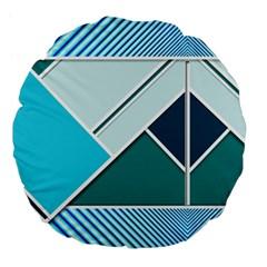 Logo Concept Banner Header Idea Large 18  Premium Flano Round Cushions