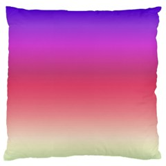 Blue Pink Purple Red Large Flano Cushion Case (one Side) by Jojostore