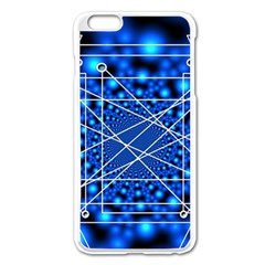 Network Connection Structure Knot Apple Iphone 6 Plus/6s Plus Enamel White Case by Amaryn4rt