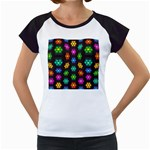 Pattern Background Colorful Design Women s Cap Sleeve T