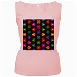 Pattern Background Colorful Design Women s Pink Tank Top